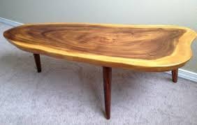 koa wood slab coffee table 375 hayes