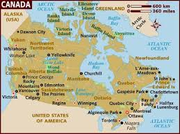 Canadian City Distance Chart Map Of Canada