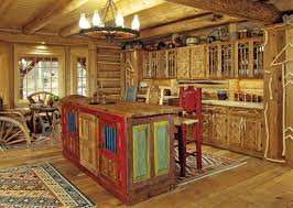 Wooden Kitchen Furniture Kitchen Amazing Rustic Kitchen Design Wooden Cushioned Bar Stool