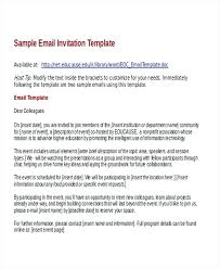 Formal Email Meeting Invitation For Conference Call Sample