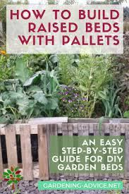 how to build raised beds from pallets gardening gardeningtips organicgardening permaculture