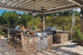 outdoor kitchens images. Contemporary Kitchens Stone Outdoor Kitchen In Kitchens Images U