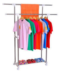 Cloth hanger stands Hangmax Double Pole Cloth Hanger Dryer Stand laundry Rackdryingdress Display Stand Price In India Buy Double Pole Cloth Hanger Dryer Stand laundry Rackdrying Othobacom Double Pole Cloth Hanger Dryer Stand laundry Rackdryingdress