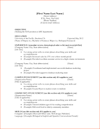 Resume Only One Job Templates For A Resume One Job Template Examples Students 60 Sevte 13