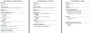 Functional Resume Template When To Select Functional Resume