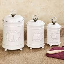 circa white ceramic kitchen canister set rh touchofclass com blue and white ceramic kitchen canisters