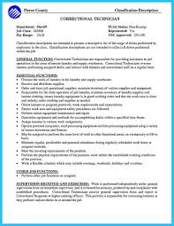 Correctional Officer Job Description Resume Correctional officer job description resume optional depiction or 7