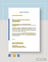 13 30 day notice templates google