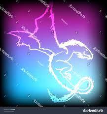 Blue Flame Galaxy Neon Dragon Wallpaper ...