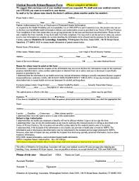 Blank Medical Chart Blank Medical Records Release Form Fill Online Printable