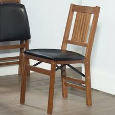 wooden folding chairs. Interesting Wooden Berkshire Vinyl Padded Folding Chair Set Of 2 To Wooden Chairs N