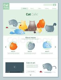 Infographic Website Template Animal Website Template Banner And Stock Vector Colourbox