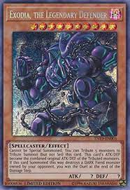 Never used in duel, has remained in my binder throughout the years. Amazon Com Exodia The Legendary Defender Tn19 En003 Prismatic Secret Rare Limited Edition Toys Games