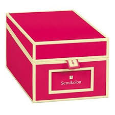 New Pink Semikolon Business Card File Box Dividers A To Z 3230006