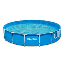 Above ground swimming pool Oval Summer Waves 15 33 Walmart Summer Waves 15 33