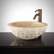 travertine vessel sink. Perfect Travertine Beige Travertine Vessel Sink In L