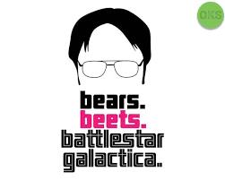 Dwight Schrute Org Chart Bears Beets Battlestar Galactica Svg Dow 818944 Png