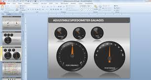 Free Gauge Chart Powerpoint Dashboard Toolkit