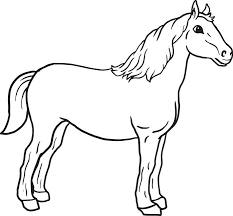 Small Picture Free Printable Horse Coloring Page for Kids