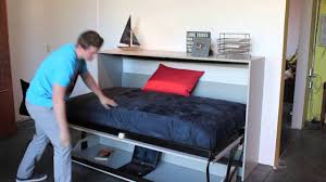 diy twin murphy bed. Chic Inspiration Murphy Bed Twin Size Horizontal DeskBed YouTube Build A Diy Double Kits Desk