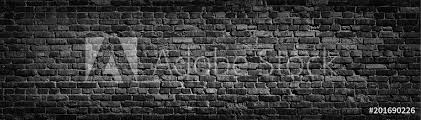 poster old black brick wall background