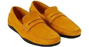 Harrys Of London Size Chart Harrys Of London Yellow Basel 3d Kudu Leather Slip On For Men