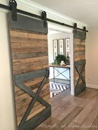 love these double sliding barn doors