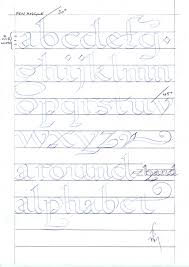 alphabet practice paper calligraphy and handwriting for children bill s space