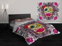 Skull Bedroom Accessories Sugar Skull Bedding Etsy