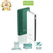 ĐÁNH GIÁ] Pin sạc dự phòng 10000mAh ROBOT RT180 thiết kế nhỏ gọn 1 cổng USB  và 1 cổng Micro/Type-C tặng dây sạc Micro - Hàng chính hãng, Giá rẻ  129,000đ! Xem