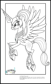 My Little Pony Princess Coloring Pages Free Printable Coloring