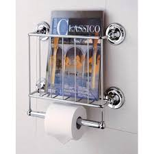 Chrome Toilet Paper Holder Magazine Rack