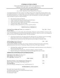 bank sample resume investment banking resume example business banker resume template