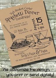 Fundraiser Poster Ideas Spaghetti Dinner Fundraiser Benefit Community Event 5x7