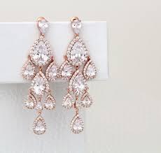 view larger rose gold chandelier earrings pixsharkcom images