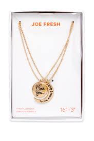 image of joe fresh best friends pendant necklace