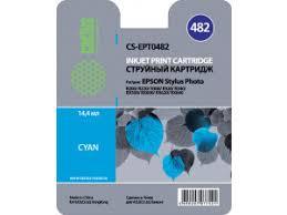 <b>Картридж</b> Cactus CS-EPT0482 (<b>C13T04824010</b>) голубой для ...