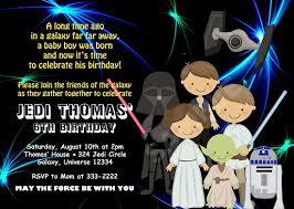 Star Wars Birthday Party Invitations Printable Free