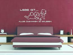 Schlafzimmer Graziös Wandtattoo Ideen Gemütlich Von In Spruche Fur