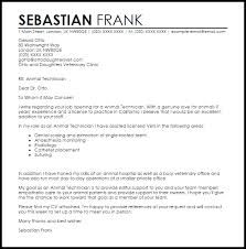 animal technician cover letter sample maintenance engineer cover letter