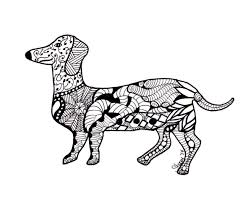 Free Printable Dachshund Coloring Pages Clrgpages