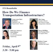 susan shaheen phd will moderate a panel as part of the its roundtable series titled how do we finance transportation infrastructure at the university