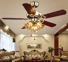 42inch 220V LED European Fan Lights Retro Elegant Living Room