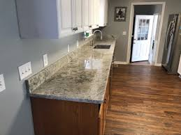 this is an after photo of an installed colonial white granite countertop