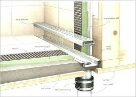 trench shower drain installation tile floor popularly design stopper l shaped linear tren