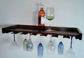 stylish 20 wall mounted wine glass rack 2016 wine glass rack wine bottles floating bar oak