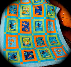 33 best Classic Disney characters images on Pinterest | Baby ... & Twin Size Disneys Finding Nemo Fabric Quilt made with Out of Print Finding  Nemo Fabrics via Adamdwight.com