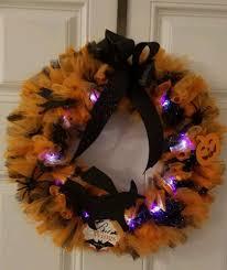 Spooky Lighted Halloween Wreath Home Garden Holiday