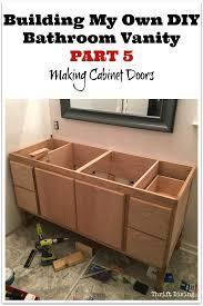 build bathroom vanity. Building My Own DIY Bathroom Vanity - Part 5 Making Cabinet Doors. See How Build