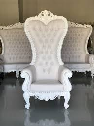 free white throne chairs king queen royal baroque wedding event party photography hotel lounge boutique furniture for in philadelphia